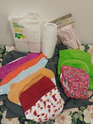 Grovia Cloth Diaper- Hybrid shells -diaper pail aio - Bioliner- Wetbag lot