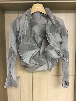 Pleats Please Style Beautiful Grey Bolero