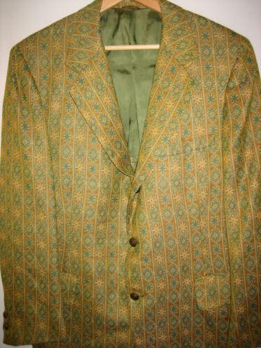 vtg 1960s 70s PBM GUS MAYER Tapestry Hippie Striped Mod Isles Blazer Jacket RARE