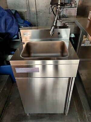 New Hybrid 684 Stainless Steel Portable Sink Hand Wash Station Hot Cold Water