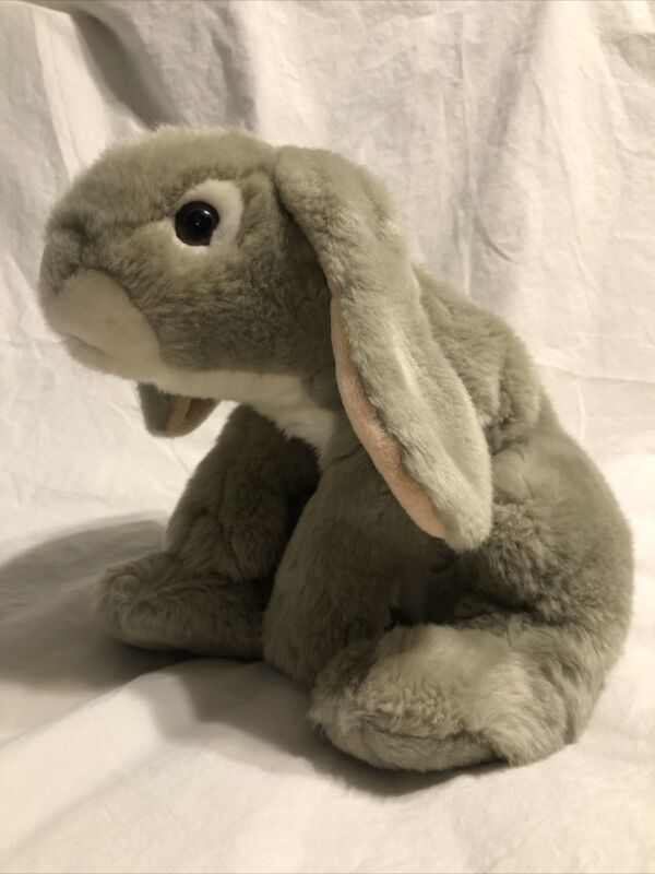 Animal Alley Gray Bunny Rabbit Grey Plush Animal Weighted Toys-R-Us 2000