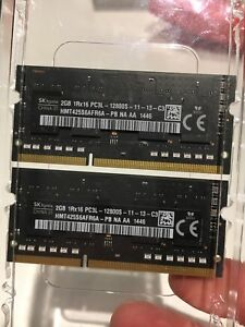 DDR3 2 x 2 Gb 1600 MHz (From MacBook Pro)