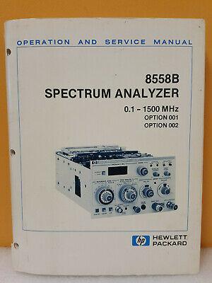Hp Agilent 08558-90076 8558b Spectrum Analyzer Opssvc Manual