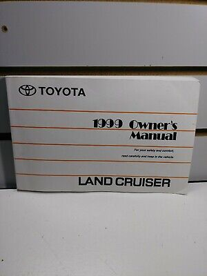 Toyota Land Cruiser Owners Manual (1999 Toyota Land Cruiser Owners Manual)