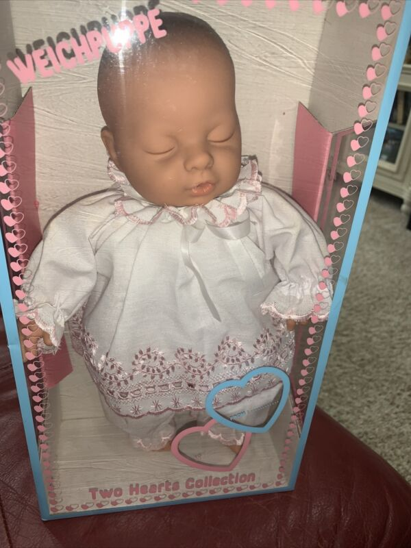 NRFB Vintage Lissi Puppe Baby Doll Two Hearts Collection Germany Realistic