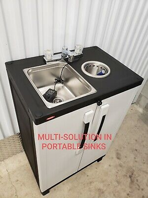 Portable Sink Mobile Handwash Self Contained And Ice Cream Dipper Well 6 110v