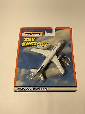 2000 LUFTHANSA DIE-CAST MATCHBOX  SKY BUSTERS AIRPLANE,  MATTEL WHEELS