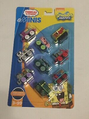 Thomas & Friends Minis Vehicle 9-Pack - Spongebob Squarepants