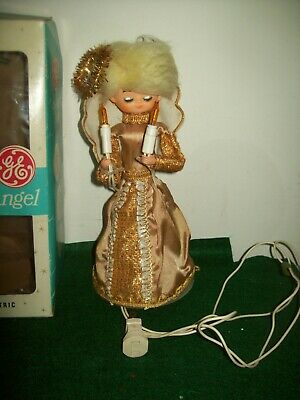 Vintage ANGEL Lighted Tree Topper by GE in Box