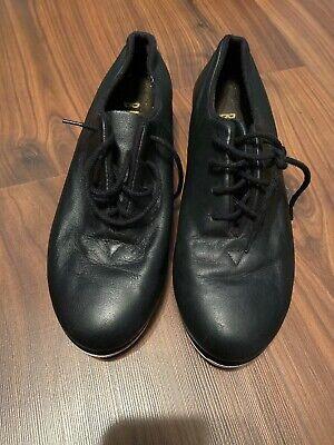 Tap Shoes Womens Jazz Oxford Bloch Shockwave Leather Black Dance Lace-up. Sz 6.5 Black Leather Tap Oxford Shoes