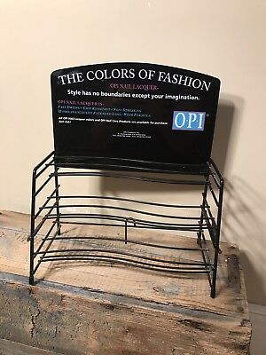 Vintage OPI Designer Display Nail Polishes Lacquer Fashion rack rare metal stand