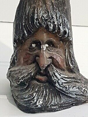 """Vintage Creepy Tree With Face Candle Strange Scary Spooky 6.5"""" Tall x 3"""" at Base"""