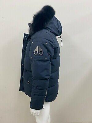 Moose Knuckles Men's 3Q 3/4 Winter Jacket NWT Navy with Black Fur Size Medium