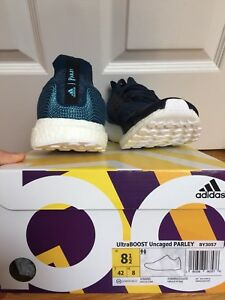 ADIDAS ULTRABOOST PARLEY BLUE UNCAGED SIZE 8.5
