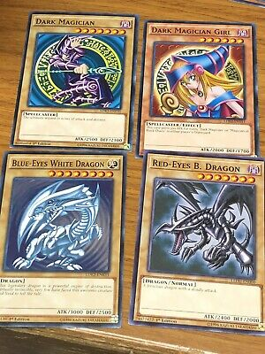 Yugioh Blue Eyes White Dragon Dark Magician Girl Red Eyes