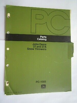 John Deere 112 212 Lawn Tractor 37 37a Snow Thrower Parts Catalog Manual