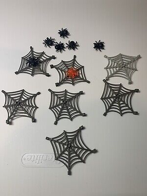 Lego Minifig Lot Spider Webs Halloween Animals Insects 7 Spiders 7 Webs