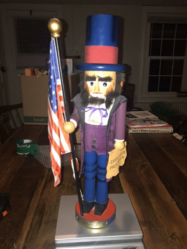 Steinbach Abraham Abe Lincoln Presidents Nutcracker S622 Read Description