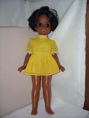 1971 Ideal African American AA Black Velvet (Crissy) Doll w orig Ideal outfit