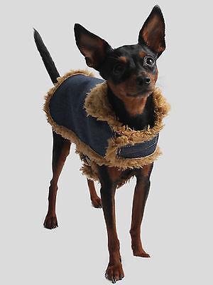 Hundejäckchen XXS Jeans Fell Hunde Kostüm Hundemantel Hundejacke Hundejäckchen