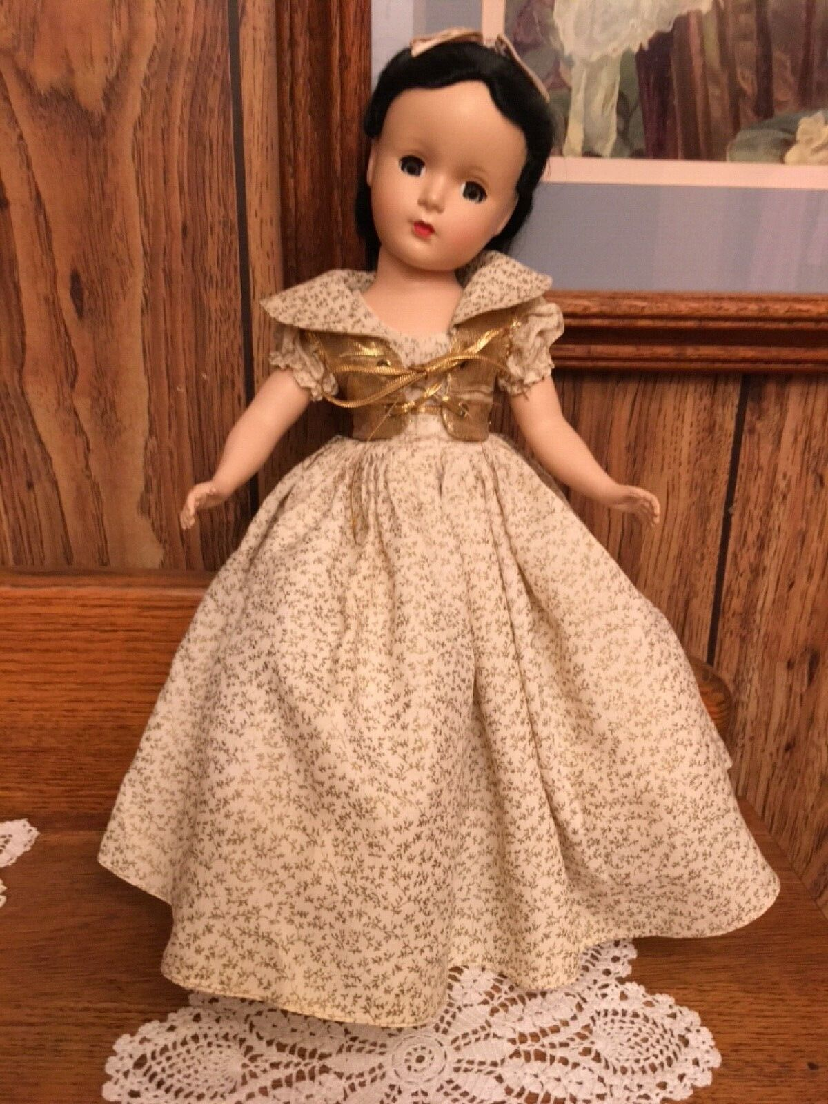 VINTAGE MADAME ALEXANDER 14 HARD PLASTIC SNOW WHITE IN ORIGINAL OUTFIT - $224.50