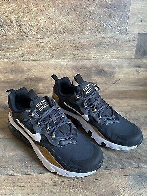 Nike Air Max 270 React (GS) Shoes Size 6.5Y / Women's 8.5 Black Gold BQ0103-005
