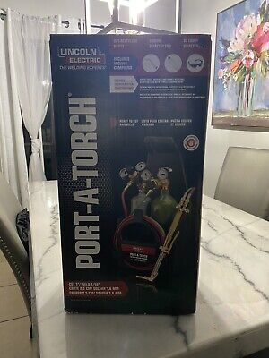 Port-a-torch Kit With Oxygen And Acetylene Tanks And 316 In. X 12 Ft. Hose For