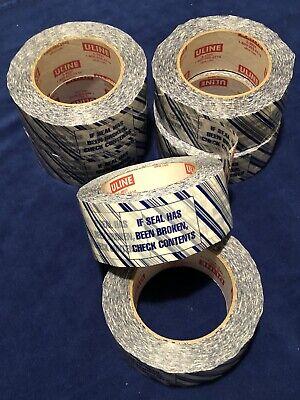 6 - Uline S-9927 If Seal Is Broken Security Packaging Tape 2 110yd 2.5 Mil