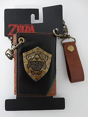 Nintendo Legend Of Zelda Triforce Video Game Metal Badge Chain Wallet Nwt