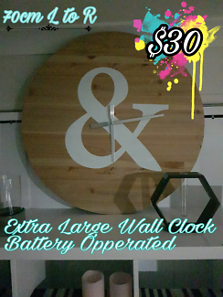 Large wooden wall clock - MOVING SALE REDLAND BAY