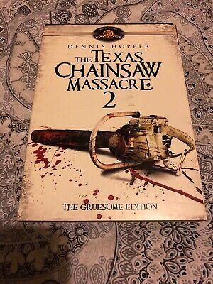 TOBE HOOPER TEXAS CHAINSAW MASSACRE 2  GRUESOME EDITION REGION 1 DVD w/SLIPCASE