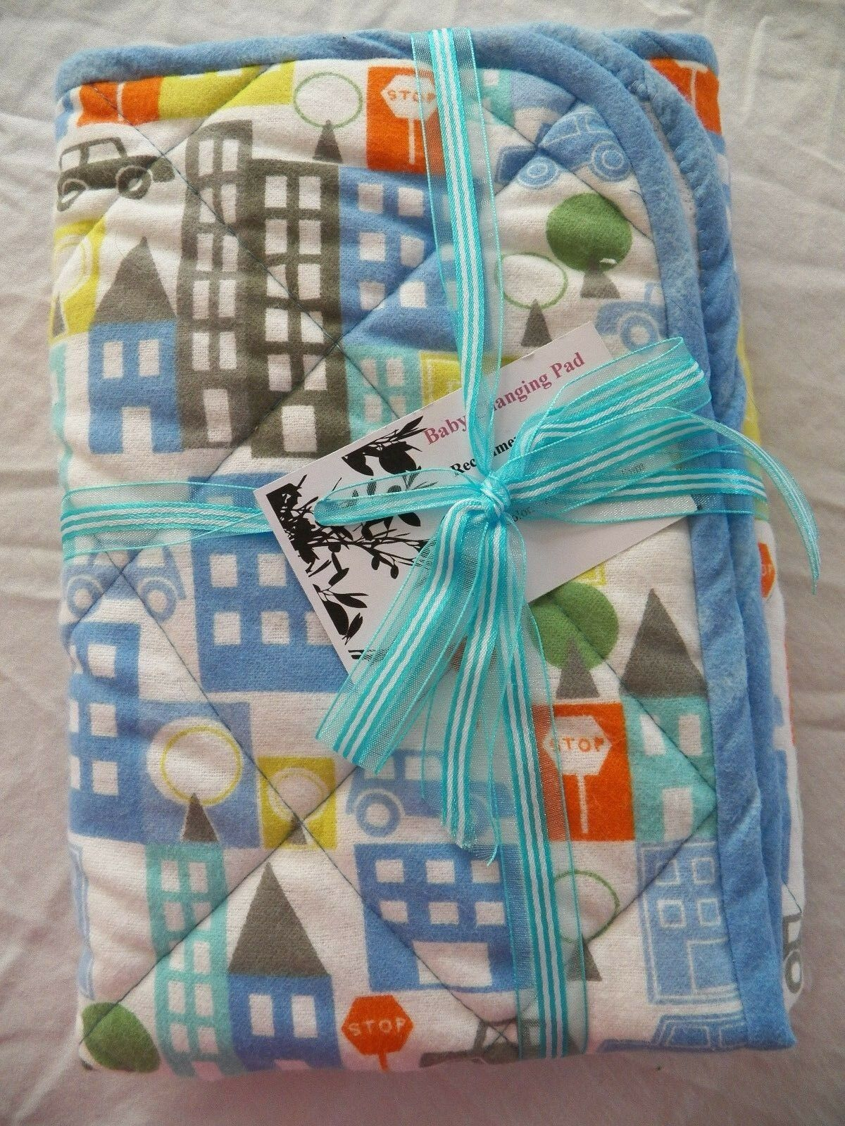 BABY CHANGING PAD Portable Diaper Travel Mat Cotton Washable Padded Handmade NEW 19