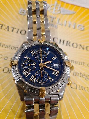 Breitling Crosswind B13355 Bi Metal Bracelet Gold & Stainless Steel Roman Numera