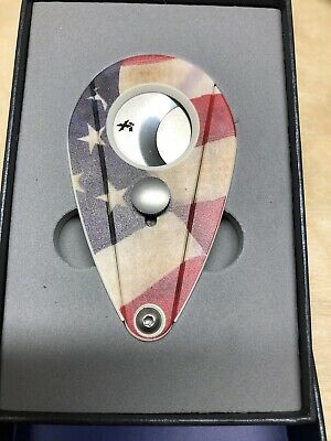 Xikar Xi2 American Flag UV Printed Cigar Cutter - 201USA - New