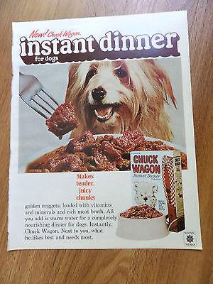 1971 Chuck Wagon Dog Food Ad   Old English Sheep Dog