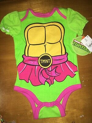 Girls Teenage Mutant Ninja Turtles Costumes (Girls Nickelodeon Teenage Mutant Ninja Turtles TMNT Bodysuit 6-9 Month)