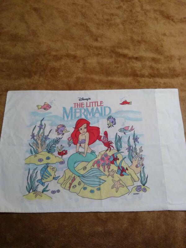 Disney Little Mermaid Vintage 90s Standard PillowcaseAriel Made In The USA 🐠