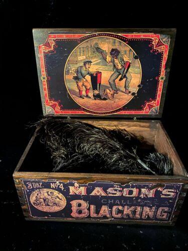 Antique Advertising Shoe Polish Box Mason