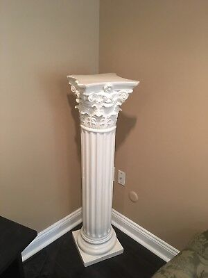 White pillar column stands/