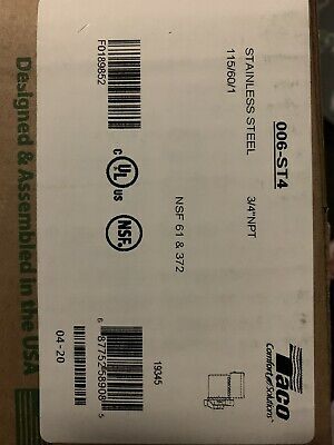Taco 006-st4-1 Hot Water Circulator Pumpss140 Hp