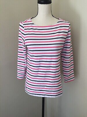 3-6 Months Joules Pink & White Stripe & Horse Print Dress Size