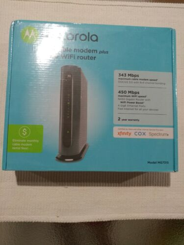 Motorola MG7315 8x4 343 Mbps DOCSIS 3.0 Cable Modem  + Wi-Fi