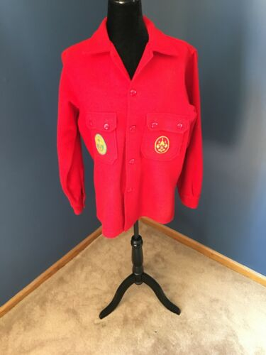 Boy Scouts Of America Red Wool Jacket Size 42