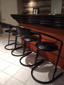 Black bar height stools, heavy dury
