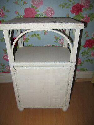 Vintage lloyd loom bedside table