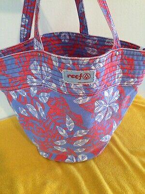 Red Shopper Bag - Reef Tote Beach Pool Bag Shopper Purse Shoulder Red Blue Surf Travel