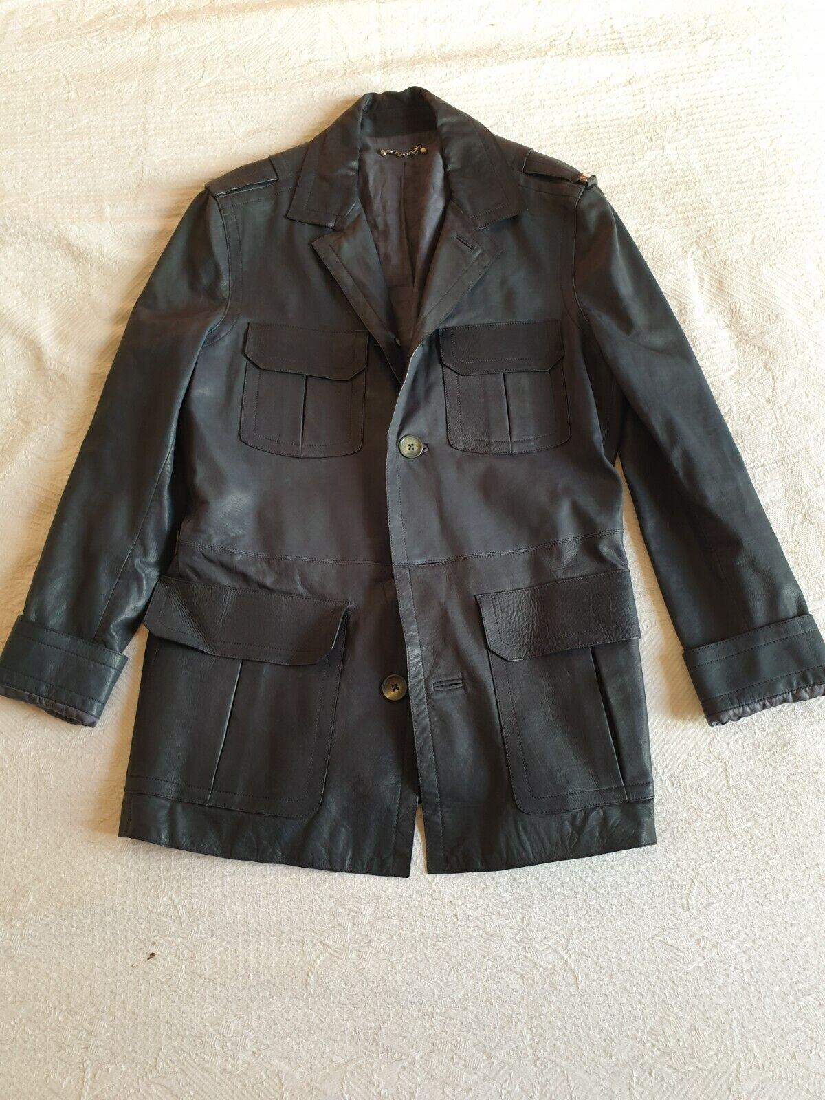 Veste longue cuir louis vuitton size 50