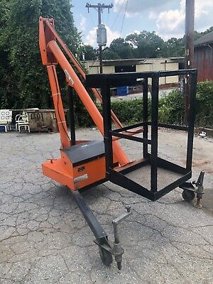 Krause R-68 Single Man Basket Hydraulic Lift Boom 12v 500lb Cap 14ft Tall Works