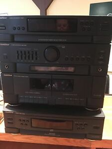 Stereo CD and cassette player