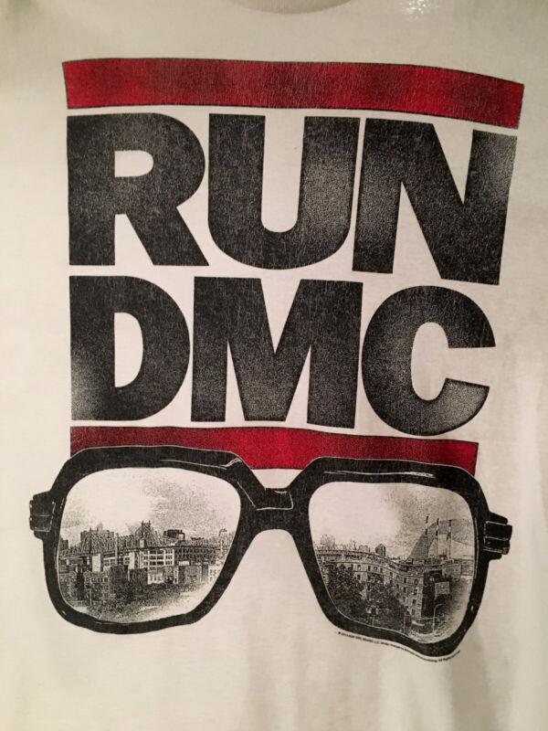 Men's Large RUN DMC, Hip Hop Delta Shirt, Glasses White